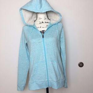 Full zip blue hoodie